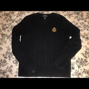 LAUREN by Ralph Lauren Classic Black Sweater